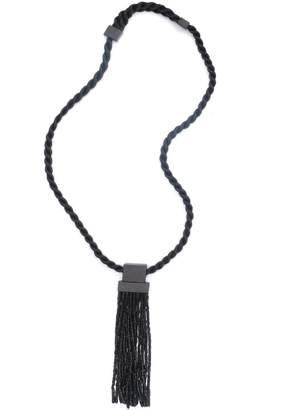 Natori Horn Tassel Fringe Necklace
