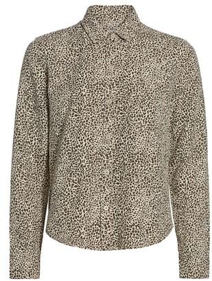 Rails Ingrid Raw Leopard-Print Button-Front Shirt