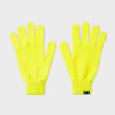 Paul Smith Men's Neon Yellow Wool Gloves