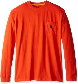 Caterpillar Men's Big and Tall Trademark Pocket L/s T-Shirt