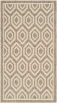 Safavieh Courtyard Collection CY6902-242 Brown and Bone Indoor/Outdoor Area Rug, 2-Feet by 3-Feet 7-Inch