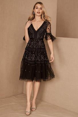 Anthropologie Needle & Thread Midsummer Wedding Guest Dress