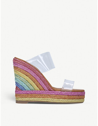 Kurt Geiger Ariana rainbow espadrille wedge sandals