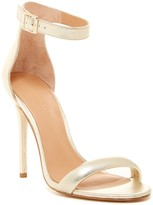 Halston Ester Metallic Leather Sandal
