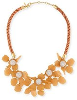 Lele Sadoughi Sculptural Lily Crystal Statement Necklace, Blue