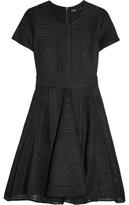 Maje Asymmetric Bonded Lace Mini Dress