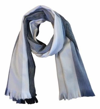 Otavalo Republic Alpaca Wool Lightweight Shawl Scarf Fashion Accessory (black-grey-kaki-white)