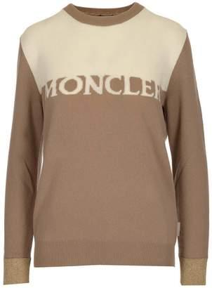 Moncler Two-Tone Logo Sweater