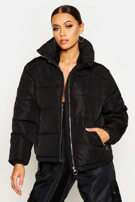 boohoo Funnel Neck Puffer Jacket