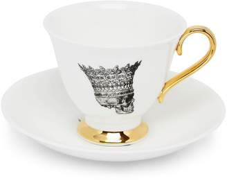 Melody Rose London - Skull In Crown Teacup & Saucer