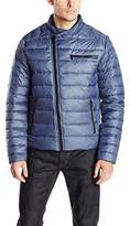 Kenneth Cole New York Men's Asymmetrical Down Moto Jacket