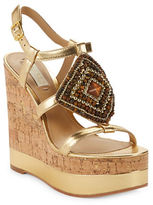 Lauren Ralph Lauren Mattie Beaded Platform Wedge Sandals