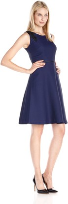 Kasper Women's Fit & Flare Shoulder Detail Dress