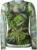 Max Mara tropical print longsleeve top