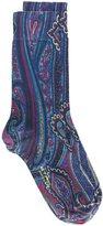 Etro paisley print socks - men - Cotton/Polyamide/Spandex/Elastane - I