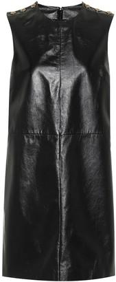 Gucci Leather Mini Shift Dress