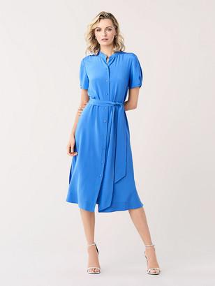 Diane von Furstenberg Addilyn Silk Crepe de Chine Shirtdress