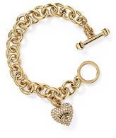 Juicy Couture Pavé Heart & Toggle Luxe Bracelet