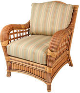 One Kings Lane Belize Armchair - Green/Tan/Beige