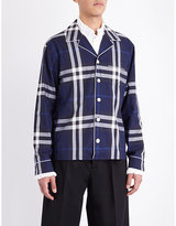 Burberry Pyjama Check-print Cotton Shirt