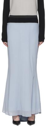 Haider Ackermann Blue Silk Godet Skirt