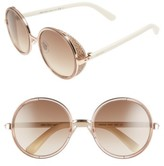 Jimmy Choo Women's Andiens 54Mm Round Sunglasses - Gold/ Beige/ White