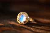 Logan Hollowell - Queen Diamond And Moonstone Ring 6900501699