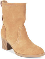 White Mountain Behari Block-Heel Slouchy Booties