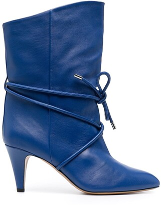 Isabel Marant Lace-Up Detail Mid-Calf Boots