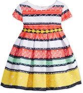 Sweet Heart Rose Mixed-Stripe Lace Dress, Baby Girls (0-24 months)
