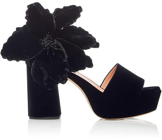 Rochas Flower Platform Sandal
