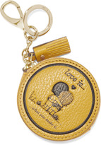 Anya Hindmarch Love Is textured-leather keychain