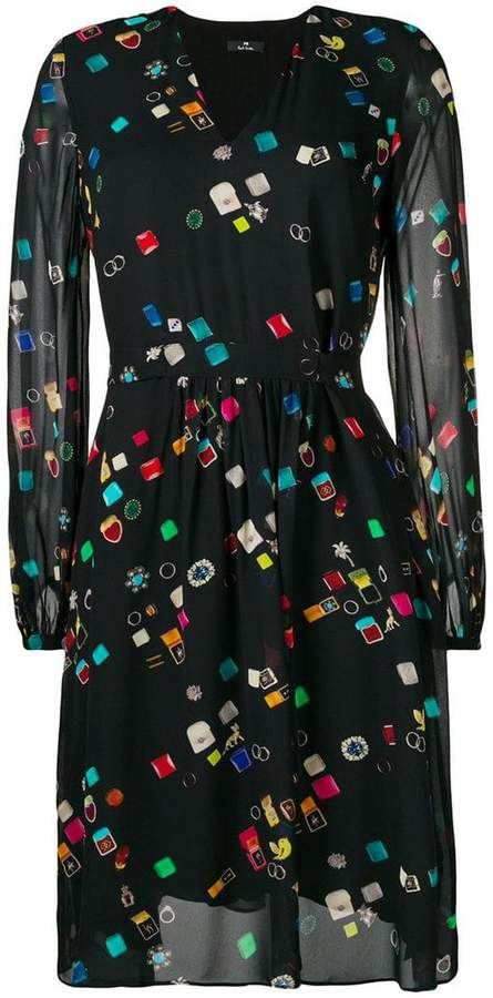 Paul Smith 'jewellery' print dress