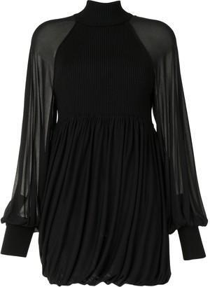Proenza Schouler Drap-Detailing Long-Sleeve Knitted Top