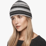 James Perse Chunky Cashmere Stripe Beanie