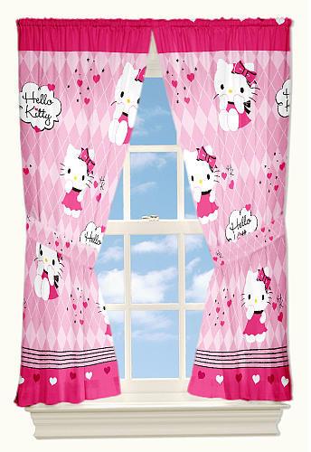 Franco Mfg Hello Kitty Window Drapes