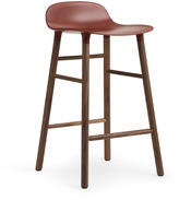 Normann Copenhagen Form Barstool H65cm Red/Walnut