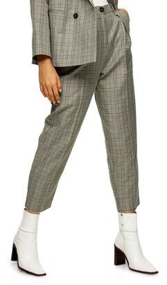 Topshop Check Peg Trousers