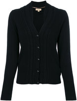 Burberry cashmere cable knit cardigan