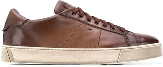 Santoni Faded Effect Sneakers