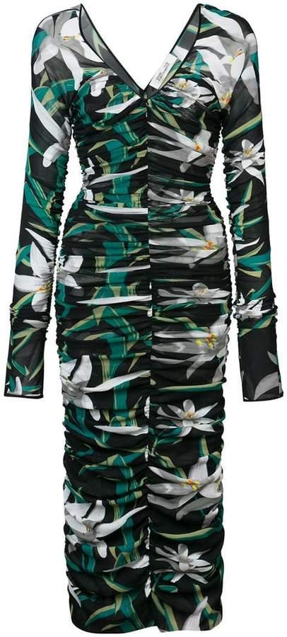 Diane von Furstenberg Camille mesh overlay midi dress