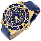 Julius Legend Capitol - 18K Gold & Blue Crocodile Leather Watch