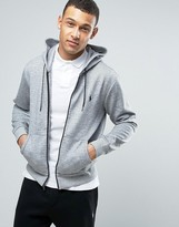 Polo Ralph Lauren Zip Through Hoodie In Grey