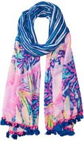 Lilly Pulitzer Palm Breeze Wrap Scarves