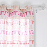 Deconovo Gradient Color Bar Graph Pattern Curtains Faux Linen Curtain Sheer Grommet Curtains for Office 42 x 63 Inch Yellow Orange and Rose 1 Piece