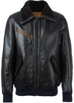 Golden Goose Deluxe Brand leather bomber jacket - men - Calf Leather/Polyester - XS