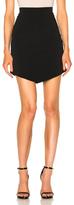 David Koma Asymmetric Hem Skirt in Black.