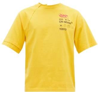 Off-White Off White Industrial Logo Print Cotton T Shirt - Mens - Yellow Multi