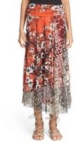 Fuzzi Women's Mix Print Tulle Skirt