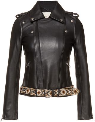 Maje Embellished Leather Jacket